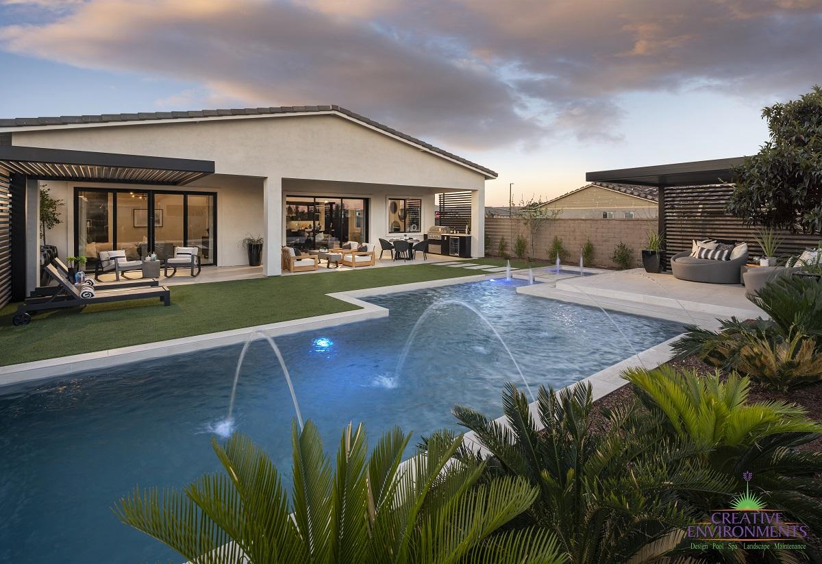 Allevare Catalan Model Home Creative Environments Landscape Design Arizona (2)